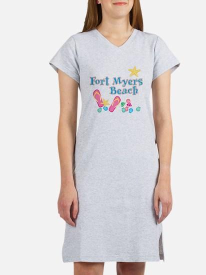 Ft. Myers Beach Flip Flops - T-Shirt