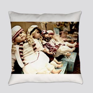 Waiting dolls Everyday Pillow