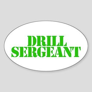 Drill sergeant Oval Sticker