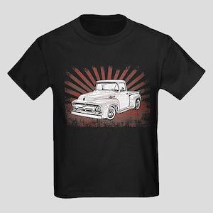 1956 Ford Truck Kids Dark T-Shirt