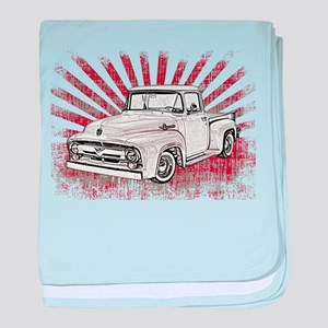 1956 Ford Truck baby blanket