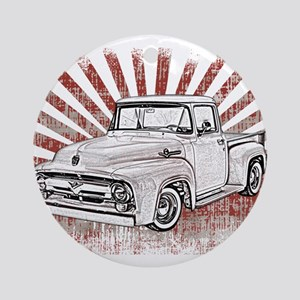 1956 Ford Truck Round Ornament