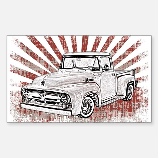 1956 Ford Truck Sticker (Rectangle)