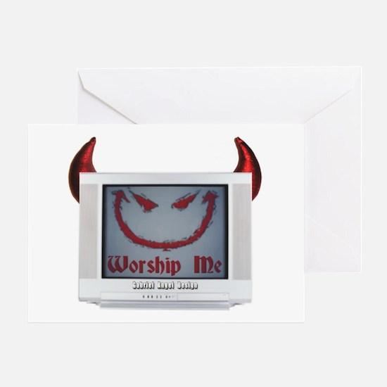 Devil TV Greeting Card