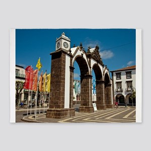 Ponta Delgada, Azores 5'x7'Area Rug