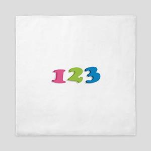 123 Numbers Queen Duvet