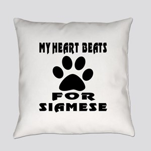 My Heart Beats For Siamese Cat Everyday Pillow