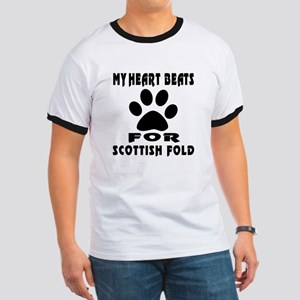 My Heart Beats For Scottish Fold Cat Ringer T