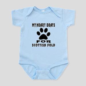 My Heart Beats For Scottish Fold C Infant Bodysuit