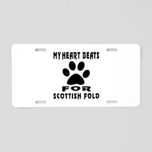 My Heart Beats For Scottish Aluminum License Plate