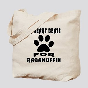 My Heart Beats For Ragamuffin Cat Tote Bag