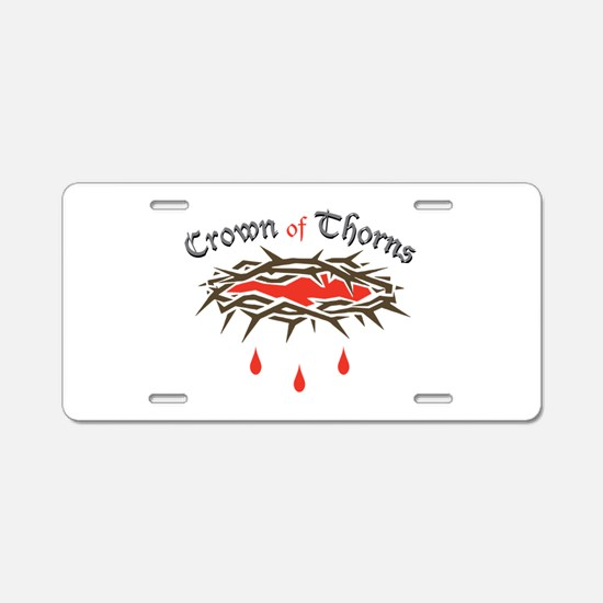 Crown of Thorns Aluminum License Plate