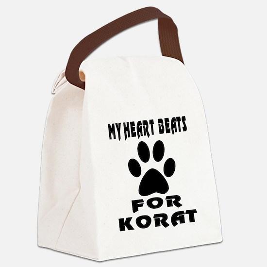 My Heart Beats For Korat Cat Canvas Lunch Bag