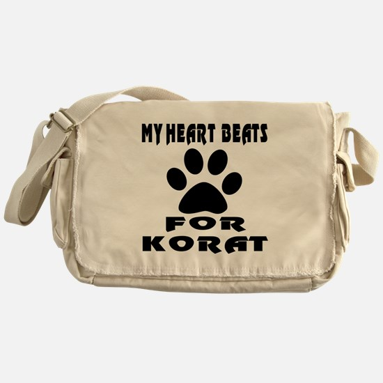 My Heart Beats For Korat Cat Messenger Bag