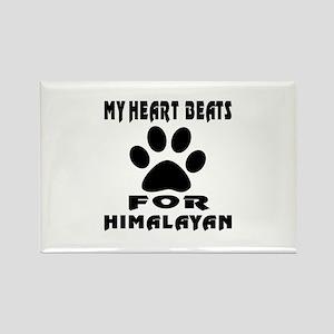 My Heart Beats For Himalayan Cat Rectangle Magnet