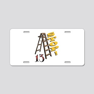 13 Stop Aluminum License Plate