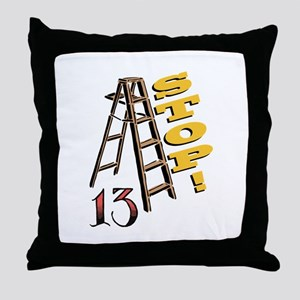 13 Stop Throw Pillow
