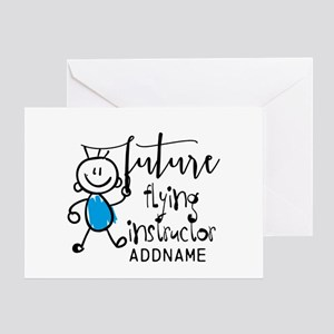 Future Flying Instructor Personalize Greeting Card
