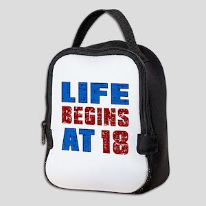 Life Begins At 18 Neoprene Lunch Bag