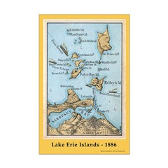 Historical 1886 Lake Erie Islands Map