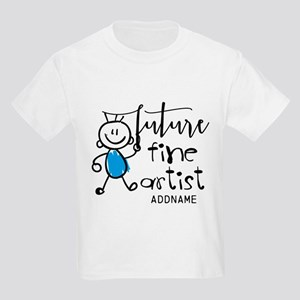 Future Fine Artist Personalized Kids Light T-Shirt