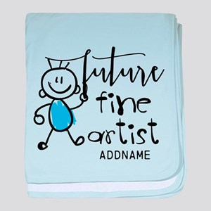Future Fine Artist Personalized baby blanket
