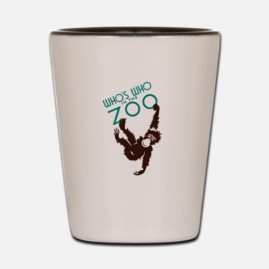 Vintage Whos Who in the Zoo Monkey Shot Glass