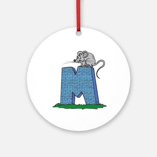 Kids Monogram M Ornament (Round)