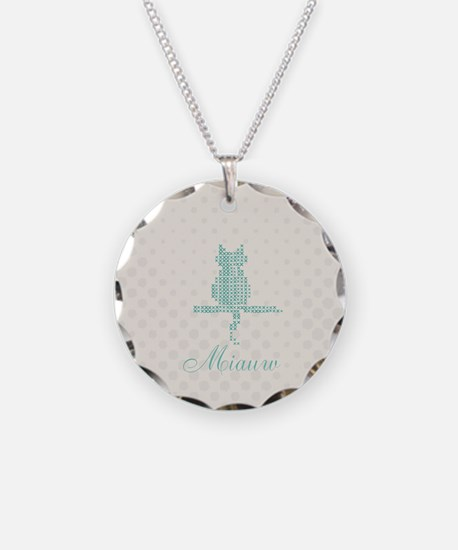 Cute Funny Mint Cat Necklace