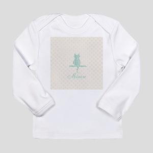 Cute Funny Mint Cat Long Sleeve T-Shirt