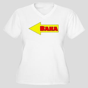 Baka Left Women's Plus Size V-Neck T-Shirt