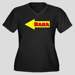 Baka Left Women's Plus Size V-Neck Dark T-Shirt