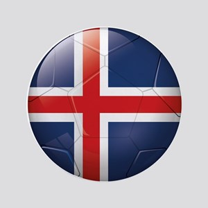 Iceland Soccer Button