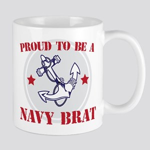 Proud Navy Brat Mugs