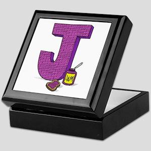 Kids Monogram J Keepsake Box