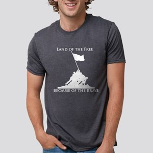 Land of the Free - Iwo Jima Women's Dark T-Shirt