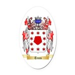 Trees Oval Car Magnet