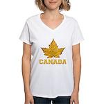 Canada Souvenir Varsity Women's V-Neck T-Shirt