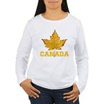 Canada Souvenir Varsit Women's Long Sleeve T-Shirt
