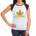 Canada Souvenir Varsity Women's Cap Sleeve T-Shirt