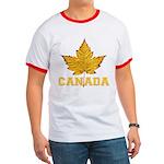 Canada Souvenir Varsity Ringer T