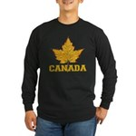 Canada Souvenir Varsity Long Sleeve Dark T-Shirt