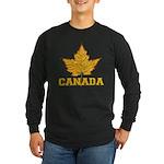 Canada Souvenir Varsity Long Sleeve Dark T-Shirt
