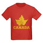 Canada Souvenir Varsity Kids Dark T-Shirt