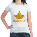 Canada Souvenir Varsity Jr. Ringer T-Shirt