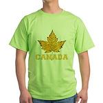 Canada Souvenir Varsity Green T-Shirt