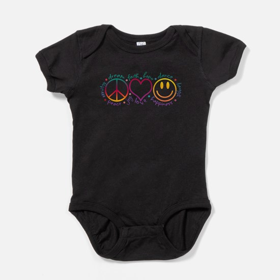 Funny Peace and love Baby Bodysuit