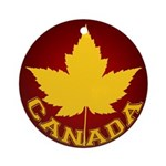 Canada Souvenir Varsity Ornament (Round)