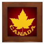Canada Souvenir Varsity Framed Tile