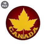 "Canada Souvenir Varsity 3.5"" Button (10 pack)"